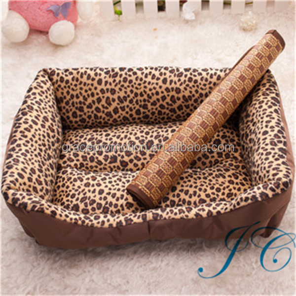 2016 New Design Fashion Soft 100% Cotton Pet House With Leopard Spots