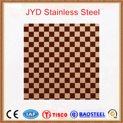 Color coating decorative etched stainless steel plate 430 hot selling