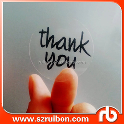 Custom Thank You stickers, transparent round stickers, envelope seals