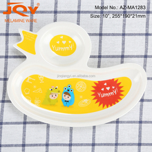 10inch toddle unbreakable dinner plate duck shap melamine kids plates