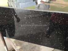 2017 best selling different types natural stone cheap black galaxy granite for sale