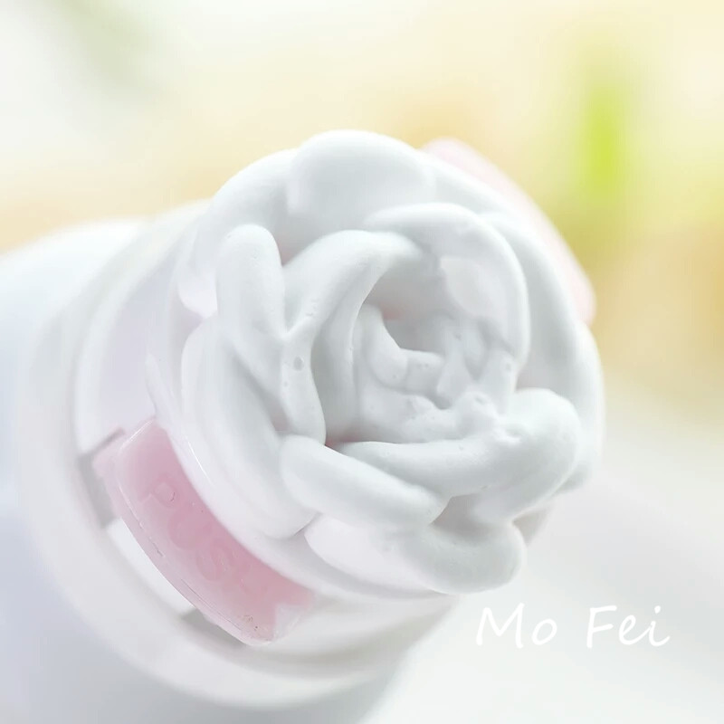 Rose foam facial cleanser