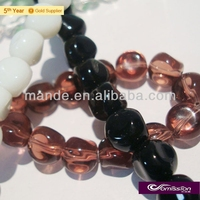 Wholesale rounded and smooth crystal beads to be decorated for jewelery and other fashion accessory