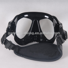 neoprene composition diving mask, underwater hunting goggle, nose protector with neoprene head strap