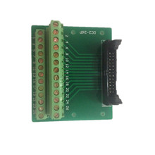 IDC26P IDC 26 Pin Male Connector to 26P Terminal Block Breakout Board Adapter PLC Relay Terminals DIN Rail Mounting