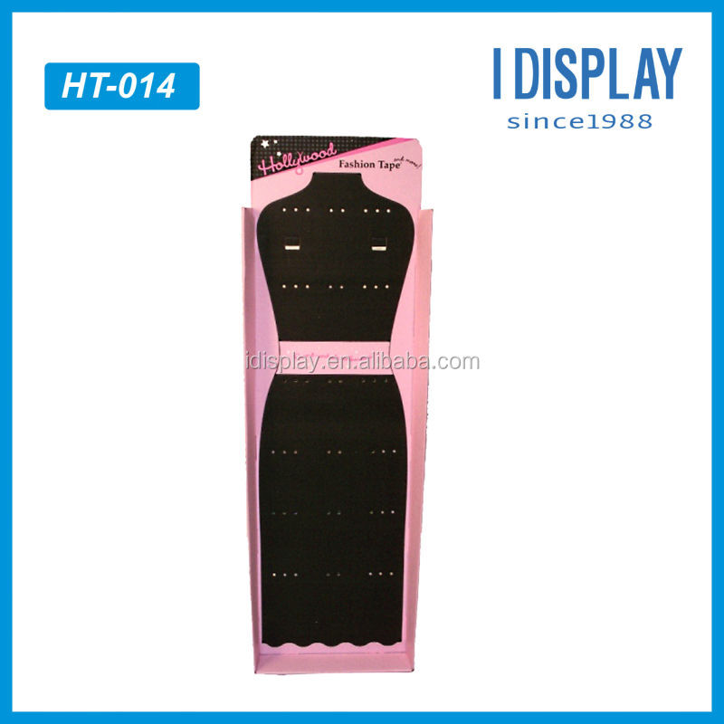 Merchandising cardboard wall hanging display for women dresses