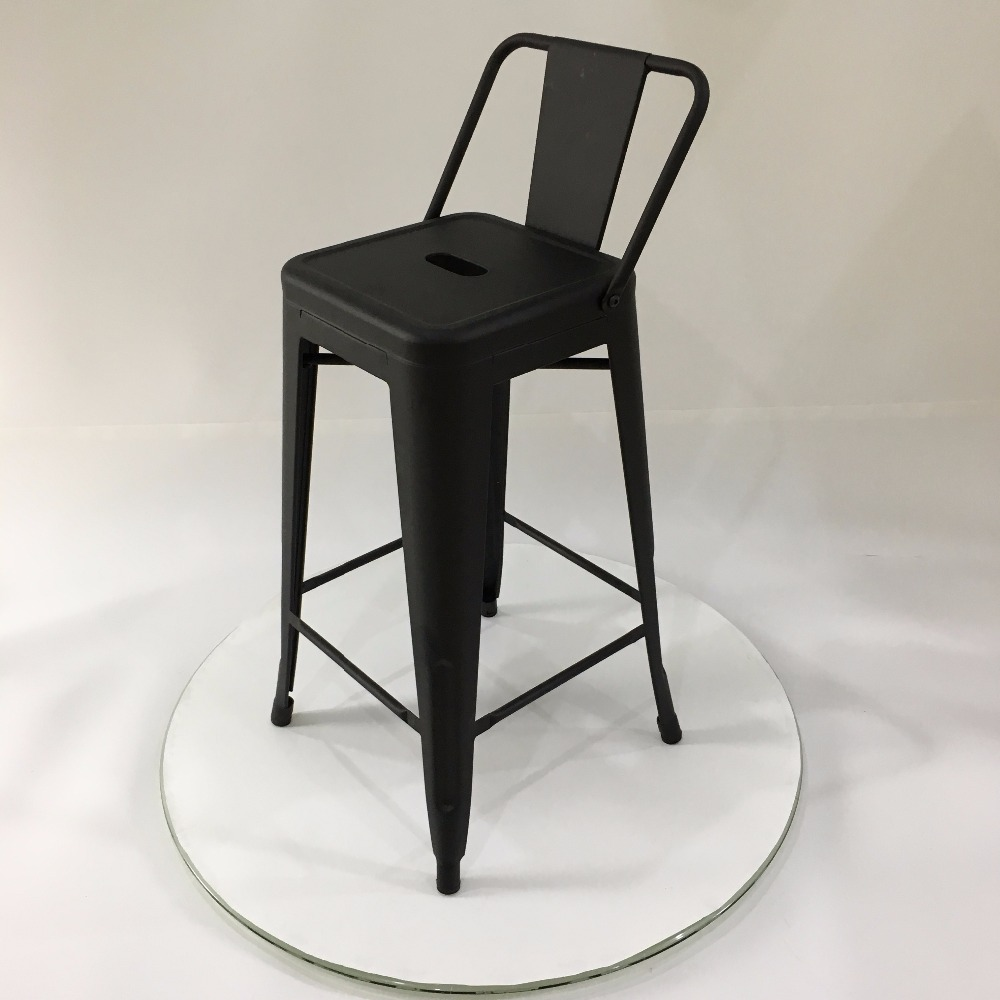 New products foshan furniture xavier pauchard powder coated high 89cm metal bar stool