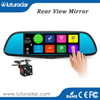 "7"" Inch Touch Screen Android 1080p Car Rear View Mirror Dual Camera Recorder GPS Navigation DVR"