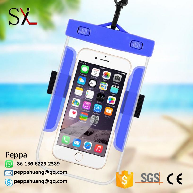 Hot Selling Clear PVC Waterproof Mobile Bag For Ipad Case