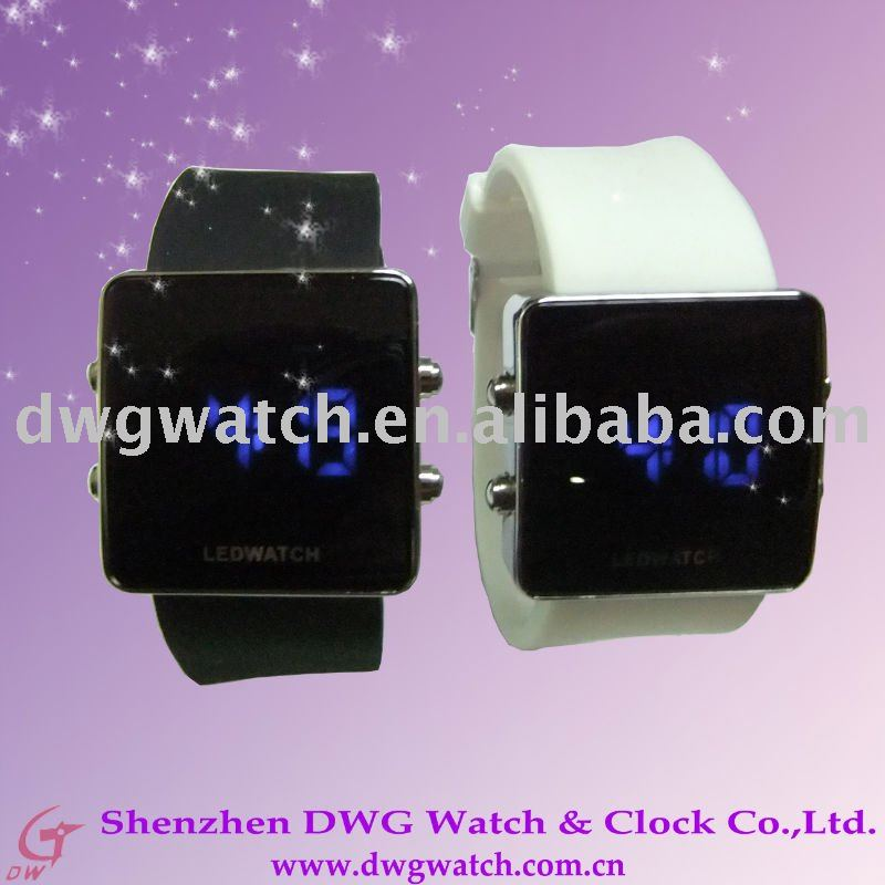 2011 China NEW LED Square sillicone watch