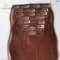 NO Tangle NO Shedding Wholesale Factory Price 100% brazilian hair clip-on hair extension