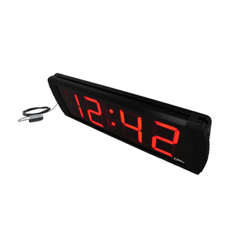 [GANXIN]4 inch 4 digits LED digital gps wall clock with GPS sync time every minute