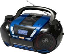 Portable compact cd boombox bluetooth mp3/cd/dvd player with fm radio usb port