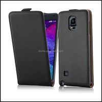 Durable Genuine Real Flip Leather Case Wallet Cover for Samsung Galaxy Note 4