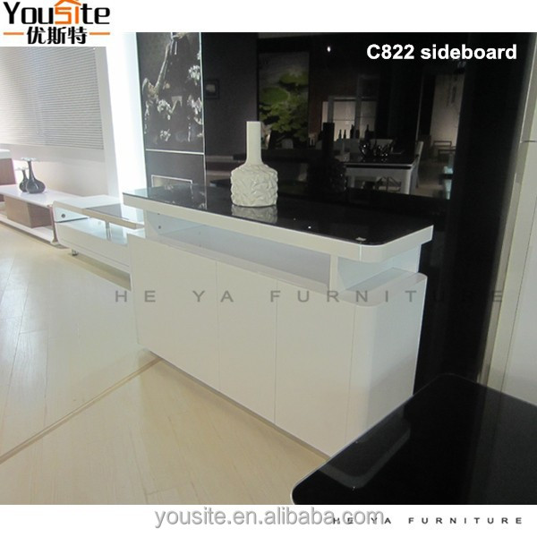 Philippine dining table set dining room sideboard white high gloss C822