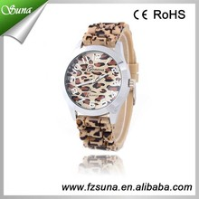 Two Color Leopard Print Lady Custom Brand Watch