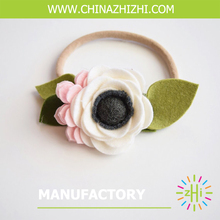 2017 hot sale felt flower <strong>headband</strong> girl hair <strong>headband</strong> baby <strong>headband</strong>