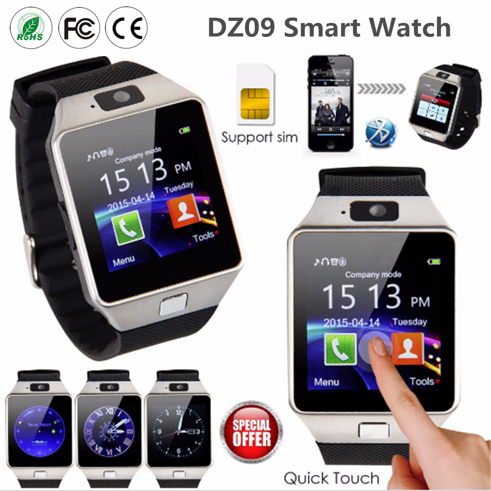 2016 DZ09 andriod smart watch with SIM card wifi smart watch sim phone