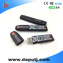 Promotional pvc remote control Usb Flash Drive for gift