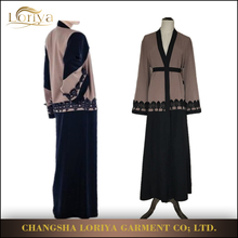 Newest design best quality Open Abaya Pakistani Style in stock attractive islamic dress