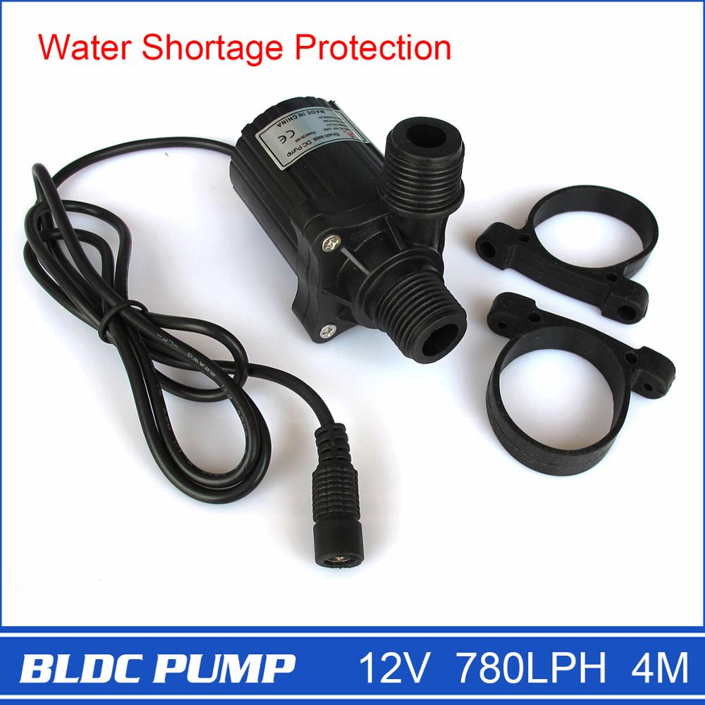 Brand New 12V Micro <strong>Pump</strong> with DC Plug, Strong 780LPH 4M, Black, 230g, Electric Power, Drop Shipping and Free Shipping!