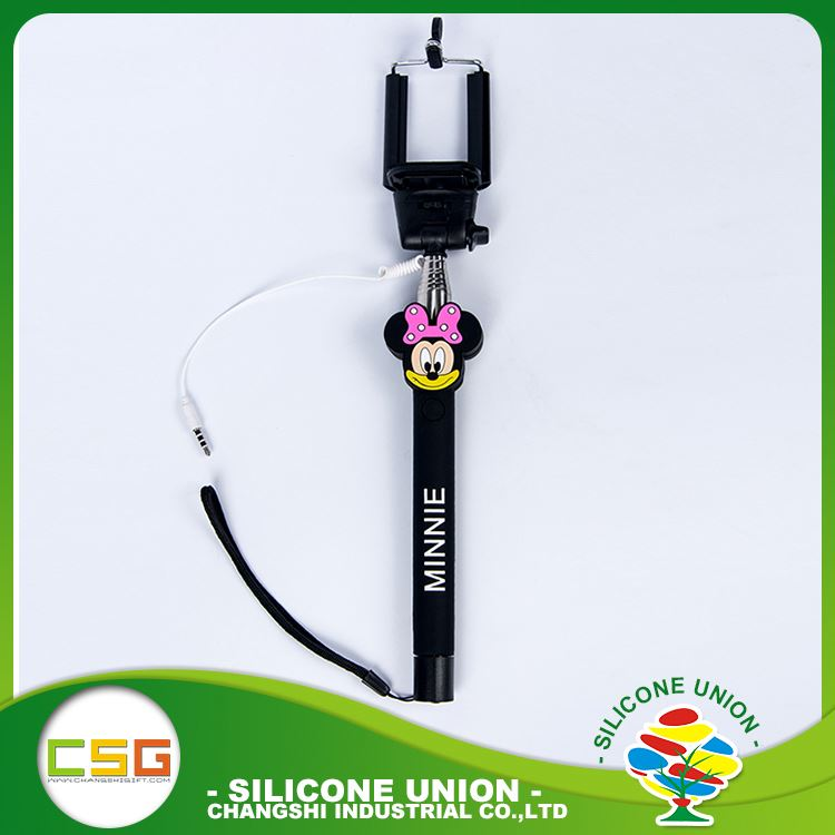 Small cute cartoon insulation silicone automatic selfie stick