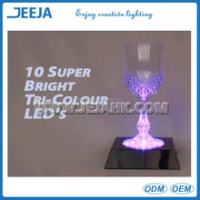 Multi-color Hookah LED Square LED Bar Light For Vase Glass/Trophy/ wedding decoration