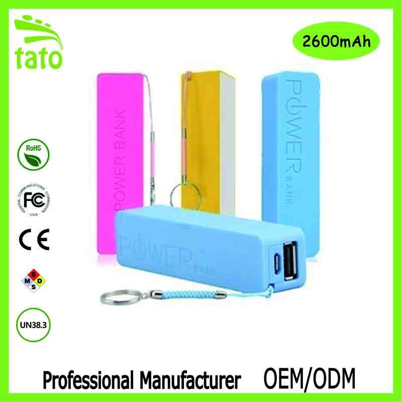 Tato high quality maxx 2600 mah power bank wholesale factory price