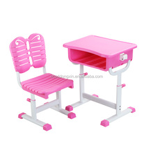 2016 modern style school plastic table and chair set for kids; school furniture K026C+KZ12