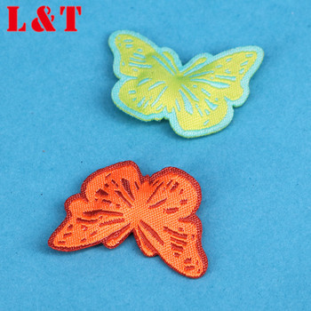 Factory Price Animal Butterfly Embroidered Badge Patches Label Design