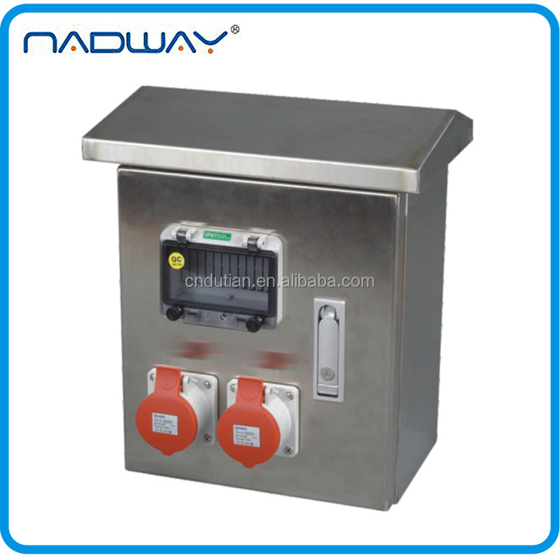 DTBM-0001 CEE/IEC stainless steel industrial electrical electrical metal switch box