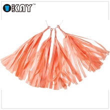 China Supplier Cheapest Mixed Wedding Paper Tassel Garland