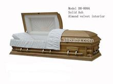 solid ash casket china coffin beds