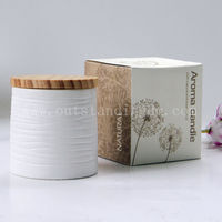 Best Selling Paraffin Wax Scented Candle With Wooden Lids For Home Decoration