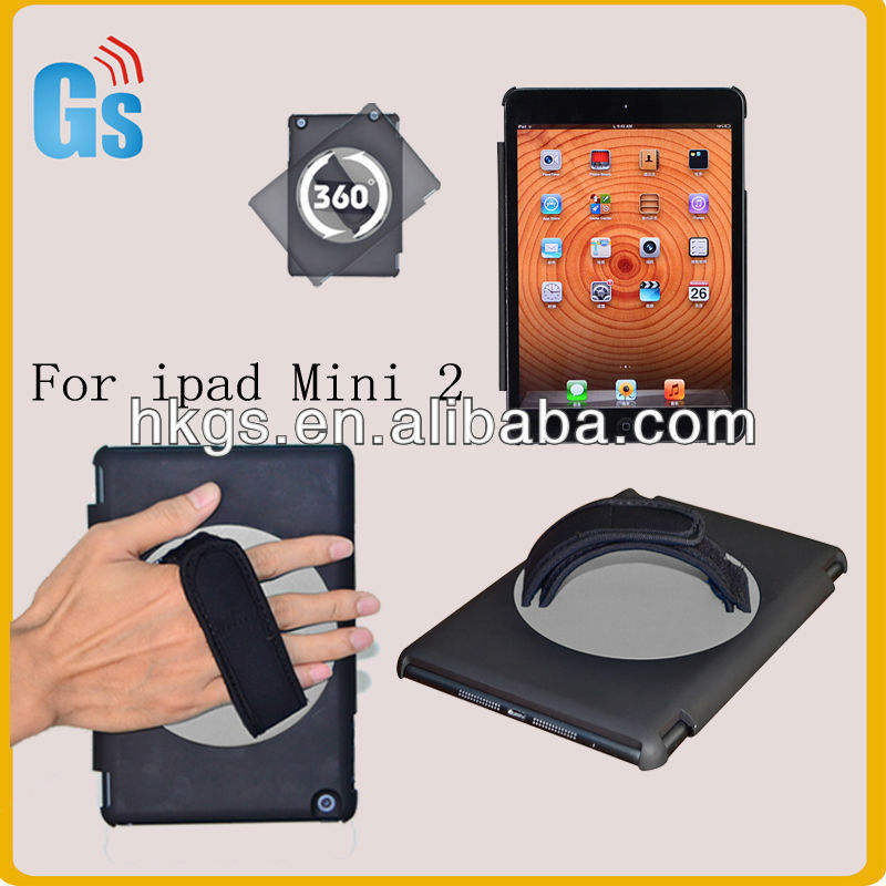 Hard Plastic Case For Ipad Mini 2 360 Degree Rotating Hand Hold