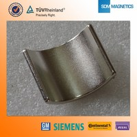 Arc shapes permanent neodymium magnet motor