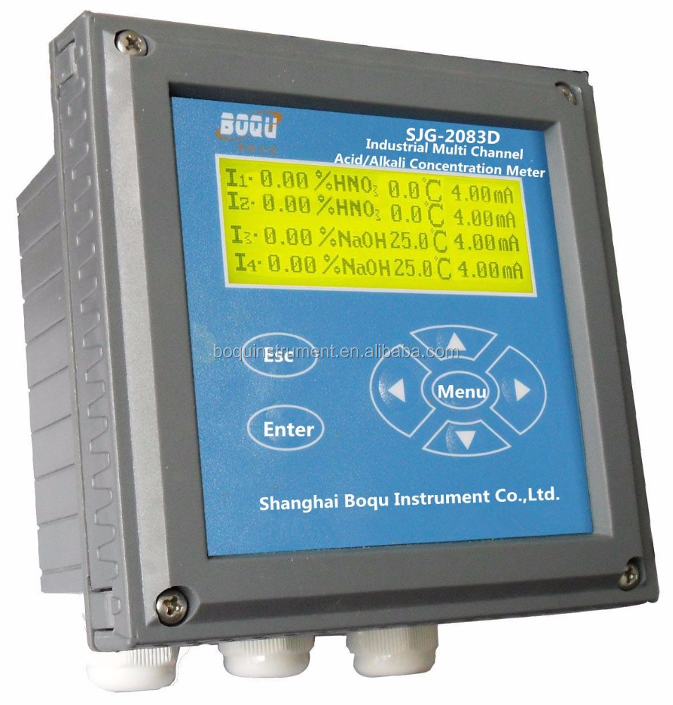 BOQU SJG-2083C Water Quality analysis Acid and Alkali Concentration Meter