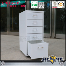 Corlorful high gloss IK free standing small cabinet/metal 5 drawers cabinet
