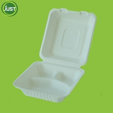 Disposable compartment food packaging containers