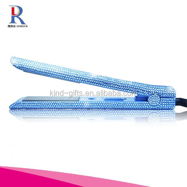 Crystal Hair Flat Iron Bling Bling Hair Straightener Rhinestone Hair Straightening Irons