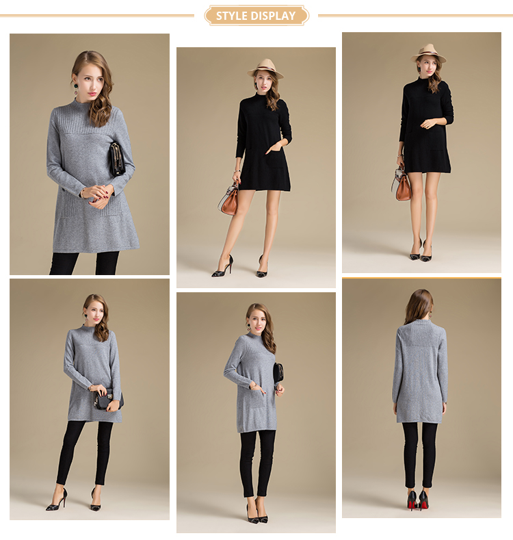 Good Quality Women Warm Winter Cashmere Knitted Sweater from Inner Mongolia