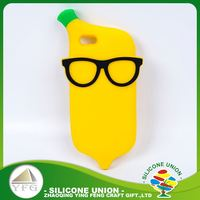 Cheap yellow banana silicone light weight cell phone case