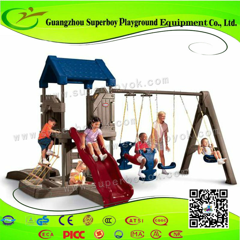 Combination Big Pendulum Plastic Slide Outdoor Swing Sets For Adults 5-27E