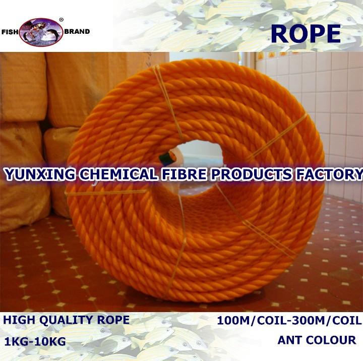 3 strands twine polyethylene rope with best price for packing/fishing in coil