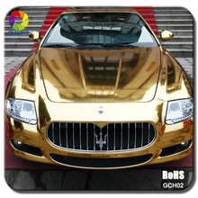 TSAUTOP ROHS certificate 8 colors available glossy chrome gold car wrap vinyl