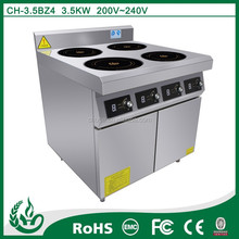 Free standing 4 burner induction cooker oven