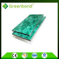 Greenbond fire proof sign board wall stone acp aluminium composite panel 2000mm width easy installation