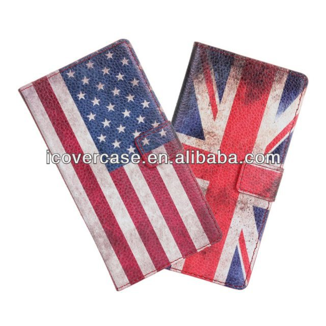 UK US flag Card Flip Stand Wallet Leather Pouch Cover case for Huawei Ascend Y300 U8833