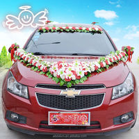 China wholesale lily flower cheap wedding car decoration