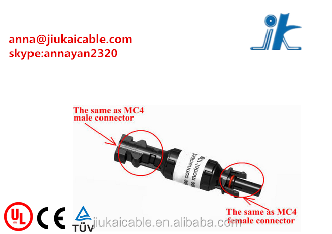 TUV MC4 solar photovoltaic connector with fuse